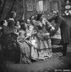 Circa 1860: A teasing tussle over a card, at a gathering on St Valentine's Day. London Stereoscopic Company Comic Series - 444 (Photo by London Stereoscopic Company/Getty Images)
