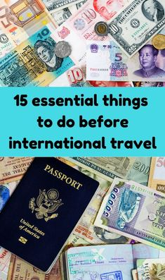 15 Essential things to do before international travel #lifebylinda #traveltips #internationaltravel