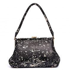 Floor Print Grainy Leather Medium Tabitha | Shoulder Bags | Handbags | Lulu Guinness