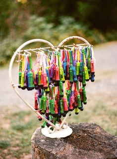 A great favor idea for a glamping wedding - mini flashlights! #glamping #wedding