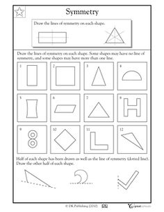 Here's a page on finding and drawing lines of symmetry.
