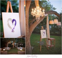 Heart Ceremony Painted unity heart ceremony chandelier wedding ceremony ceremony beneath a tree Sweet Tea and Linen Hodge Podge Lodge  Amie Reinholz Photography