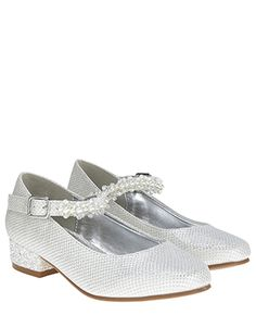 Complete her party outfits with endless sparkle, courtesy of our jive shoes for girls. With their glitter heels and beaded straps, these shoes will step up h. Kid Shoes, Girls Shoes, Me Too Shoes, Flower Girl Shoes, Flower Girl Dresses, Party Outfits, Kids Outfits, Communion Shoes, Monsoon Uk