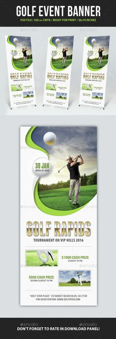 The Hybrid Swing Plane Golf events, Event flyers and Golf - golf tournament flyer template