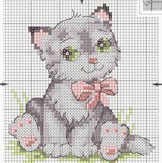 Tina's handicraft : 7 charts for cross stitch embroidery cats , Cat Cross Stitches, Funny Cross Stitch Patterns, Cross Stitch Baby, Cross Stitch Animals, Cross Stitch Charts, Cross Stitch Designs, Cross Stitching, Cross Stitch Embroidery, Embroidery Patterns