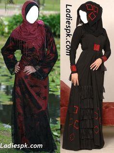 Latest Dubai Modern Abaya Burka Designs 2013 Pakistan India | Latest Dresses Fashion Trends 2013, 2014 in Pakistan Burka Fashion, Hijab Fashion, Modern Abaya, Abaya Designs, Dubai, Kaftans, Abayas, Passion For Fashion, Beautiful Dresses