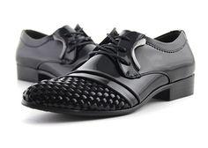 Career Black Weaving and Lace-Up Design Formal Shoes For Men, BLACK, 43 in Men's Shoes | DressLily.com