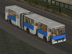 Ikarus 280 Stadtbus mit Tauschtextur
