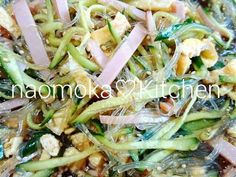 Let's cook Tasty Chinese-Style Cellophane Noodle Salad by yourself! Easy Salads, Healthy Salad Recipes, Easy Meals, Asian Cooking, Healthy Cooking, Cooking Recipes, Japanese Dishes, Japanese Recipes, Cooking Instructions