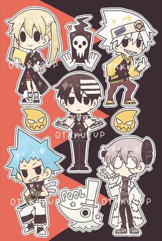 Finished another amazing anime sticker sheet! 😊❤️ Soul eater will always be one of mah faves yo! Anime Soul, Soul Eater Manga, Cute Cartoon Wallpapers, Animes Wallpapers, Anime Stickers, Pokemon Fusion, Fanart, Pokemon Cards, Little Pony