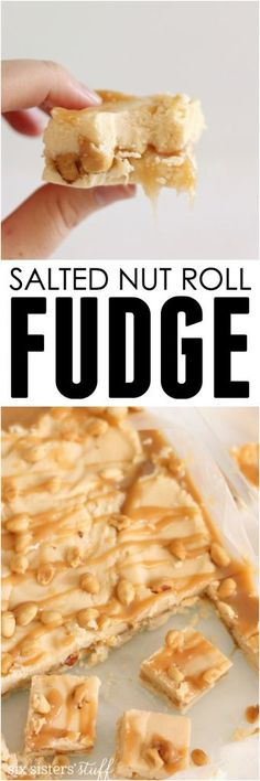 Vanilla fudge with a caramel peanut center - it's the perfect Christmas dessert for yourself, or your neighbors!
