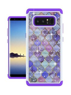 PURPLE RHINESTONES New Cute Bling Sparkle Case Cover Holder for GALAXY NOTE 8 | eBay Galaxy 8, Samsung Galaxy Note 8, Cell Phone Cases, Sparkle, Bling, Notes, Iphone, Leaves, Ebay