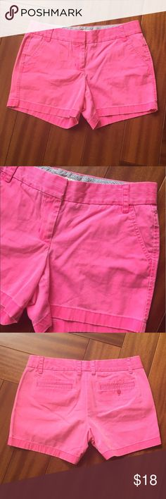 J. Crew pink shorts Size 10 cute hot pink shorts. Waist 34 inches, hips 42 inches. J. Crew Shorts