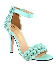 Look what I found on #zulily! Mint Edward Embellished Sandal #zulilyfinds