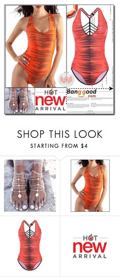 """""""Hot Swimwear by Banggood 19/20"""" by esma178 ❤ liked on Polyvore"""