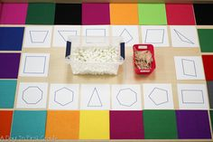 Reggio-inspired provocation while kindergarteners explored two dimensional shapes