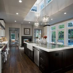 Kitchen Modern Pendant Lighting Above Island Design, Pictures, Remodel, Decor and Ideas - page 15