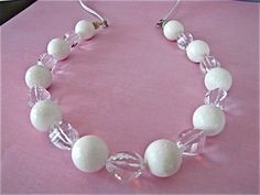 White Coral Beads Necklace on Etsy #gifts
