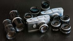 Photo of my entire Olympus Pen F collection as of 2014