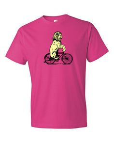 Lion Riding on a Bicycle Short sleeve unisex t-shirt