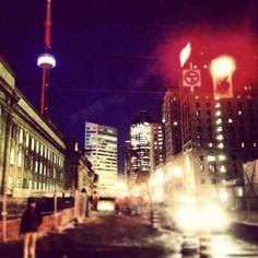city lights & a cold night