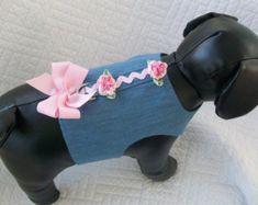 Small Ready to Ship Dog Dress Aqua Polka Dot by graciespawprints