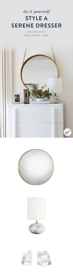 See how Caitlin Flemming styled her new, all-white dresser in this tour of her bedroom makeover with The Studio at One Kings Lane!