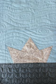 Teaginny Designs: Paper Boat Baby Quilt