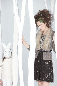 love the hair piece! the black skirt with overlay, the collar, the sweater!.......awwhh love it all! (Anthro-nov.2012)