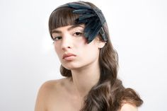 Leather Headband - Feather Crown - Unique leather headband - Fashion headpiece - Flapper headpiece - Hats & Headpieces