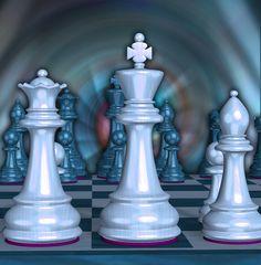 Chaturanga - Chess Board Art Print