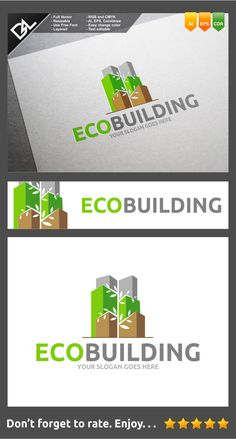 Eco Buiding Logo Template by Jefry Maviskho, via Behance