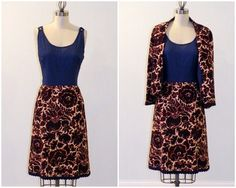 Vintage 60s Dress Suit Set 1960s Navy Blue & by daisyandstella, $70.00