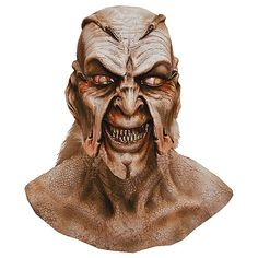 Seek human flesh in our Creeper Mask! Creeper Mask resembles the demon-like face of the Creeper, featuring scaly skin, sharp fangs and a menacing expression. Creepy Masks, Creepy Halloween Costumes, Halloween Costume Accessories, Cool Masks, Halloween Looks, Halloween Ideas, Jeepers Creepers, Classic Horror Movies, Horror Films