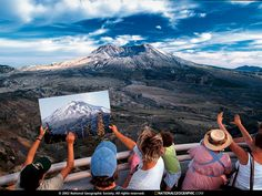 Mount St. Helens, Washington. The top blew in 1980 after an earthquake triggered the volcanic eruption which was the deadliest in American History, killing 57 people.
