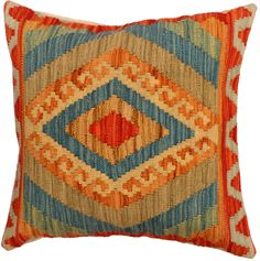 Handmade kilim cushion cover 48x48cm,P #328 by WitcheryRugs on Etsy