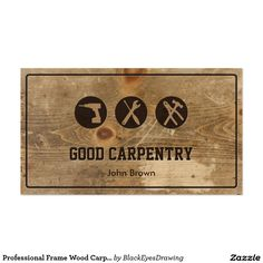 Carpenter wood hammer logo carpentry pinterest carpentry professional frame wood carpentry repair business card cheaphphosting Gallery