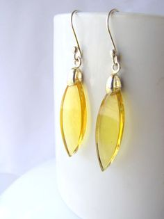 Mexican amber earrings artisan made from Chiapas, Mexico