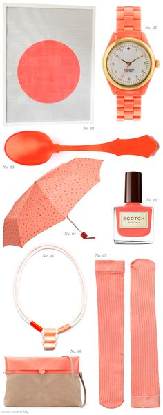 Color Crush: Corals - Home - Creature Comforts - daily inspiration, style, diy projects + freebies