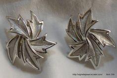Trifari women's designer clip on earrings silver by VignetteJewel, $11.50