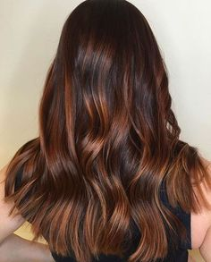 dark+brown+hair+with+caramel+ombre+highlights