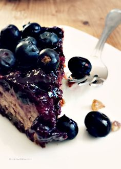 Vegan Blueberry 'Pit' Pie from Canned-Time.com - gluten and refined sugar free