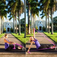 Leaning Twist - Total-Body Sculpting: The Resistance Band Workout - Shape Magazine - Page 7 Resistance Workout, Resistance Band Exercises, Shape Magazine, Running Workouts, At Home Workouts, Band Workouts, Best Exercise Bands, Pilates Solo, Diy Savon