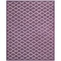 Contemporary Handmade Moroccan Purple Wool Rug (8' x 10') | Overstock.com Shopping - The Best Deals on 7x9 - 10x14 Rugs