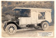 1914 Cadillac Carved Panel Hearse ~