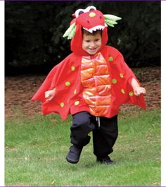 Kids Unisex Dragon Costume Cape Children Cloak Halloween Boys Girls Party Outfit