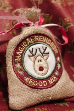 Instant Download  In-the-hoop MAGICAL REINDEER FOOD Bag applique embroidery design on Etsy, $3.99