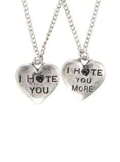 I Hate You BFF Necklace Set,
