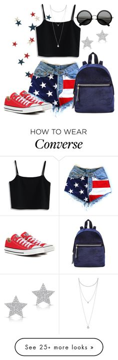 """American Dreams"" by annetkor on Polyvore featuring Chicwish, Lucky Brand, Converse and Diamond Star"