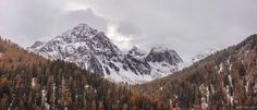 The First Snow of the Season in the Engadine located in the canton of Graubünden in most southeastern Switzerland [OC] [4096x1755]